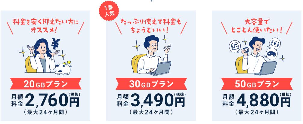 ネクストモバイル 月額料金 データ容量